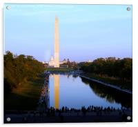 Washington Monument and Reflecting Pool, Acrylic Print