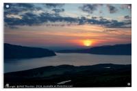 Sunsetting over Portree, Isle of Skye, Scotland., Acrylic Print