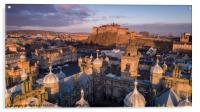 Edinburgh Castle Aerial, Acrylic Print