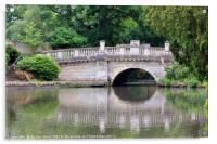 Bridge at Pittville Park, Cheltenham, Acrylic Print