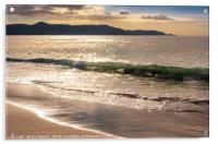 Breaking waves at Spirits Bay, Acrylic Print