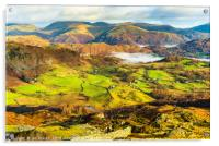 Little Langdale and Fairfield, Acrylic Print