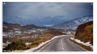 Highland road and mountains, Acrylic Print