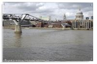 Millennium Bridge, Acrylic Print