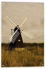 Ageing Windmill , Acrylic Print