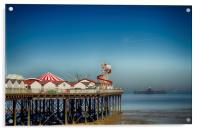 Herne Bay old and new pier Kent , Acrylic Print