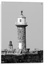 Whitby Lighthouse, Acrylic Print
