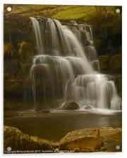 East Gill Upper Falls, Acrylic Print