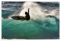 Surfing in Cornwall, Acrylic Print