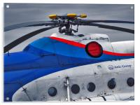 Old Helicopter Details, Acrylic Print