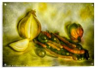 Hot and Spicy Chillies, Acrylic Print