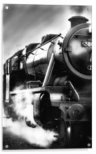 Black and White Train, Acrylic Print