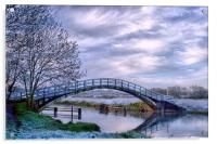 Sileby Mill Bridge, Acrylic Print