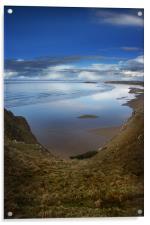 Rhossili Bay, Gower Peninsula,Wales, Acrylic Print