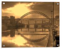 Sepia Tyne, Acrylic Print