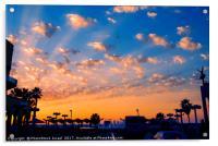 Mediterranean sun set, Acrylic Print