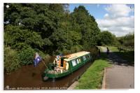 UK, Wales, Powys, Brecon canal , Acrylic Print