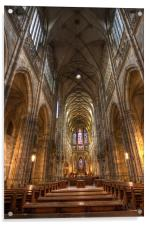 Interior of Saint Vitus Cathedral, Acrylic Print