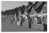 Fishermans cottages in Beer, Acrylic Print