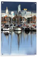 Liverpool Marina, Acrylic Print