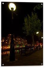 Salford Quays By Night, Acrylic Print