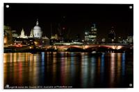London Skyline at night, Acrylic Print