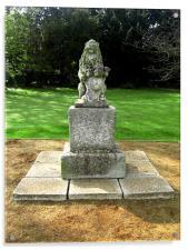 Lion Statue, Acrylic Print
