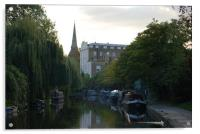 Regents canal on a summers evening, Acrylic Print