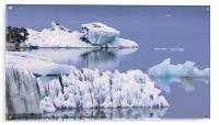 Glacial Textures, Acrylic Print