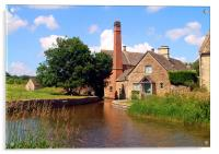 Mill at Lower Slaughter, Acrylic Print