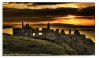 Sunset over Dunluce Castle, Acrylic Print