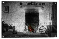 Home at the hearth, Acrylic Print