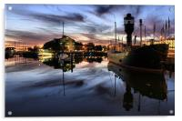 Hull Marina at Dusk, Acrylic Print