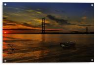 Humber Bridge Sunset 2012, Acrylic Print