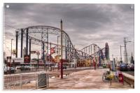 Blackpool Pleasure Beach, Acrylic Print