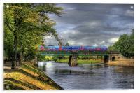 Scarborough Bridge, York, 2012, Acrylic Print