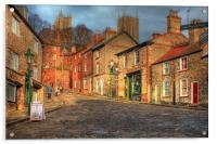 Steep Street Lincoln 2013, Acrylic Print