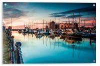 Marina Morning 2014, Acrylic Print