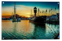 Marina Sunset, Acrylic Print