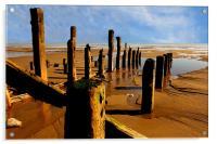 east coast beach, Acrylic Print