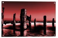 burgundy sands, Acrylic Print