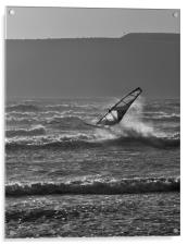 Windsurfer, Marazion, Cornwall, Acrylic Print