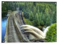 Summer Rain On Laggan Dam., Acrylic Print