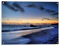Sundown On Aphrodites Beach, Acrylic Print