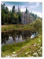 Gate Lodge of Ardverikie Estate, Acrylic Print