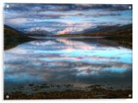 Morning Reflections On Loch Leven, Acrylic Print