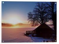 Sunburst Over Loch Ard, Acrylic Print