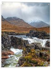 Winter Over The River Etive, Acrylic Print