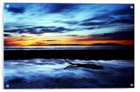 Troon Beach, Reflections, Acrylic Print