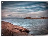 Isle of Arran from Troon, Acrylic Print